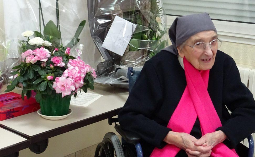 100 ans de Sr Marie Grossin