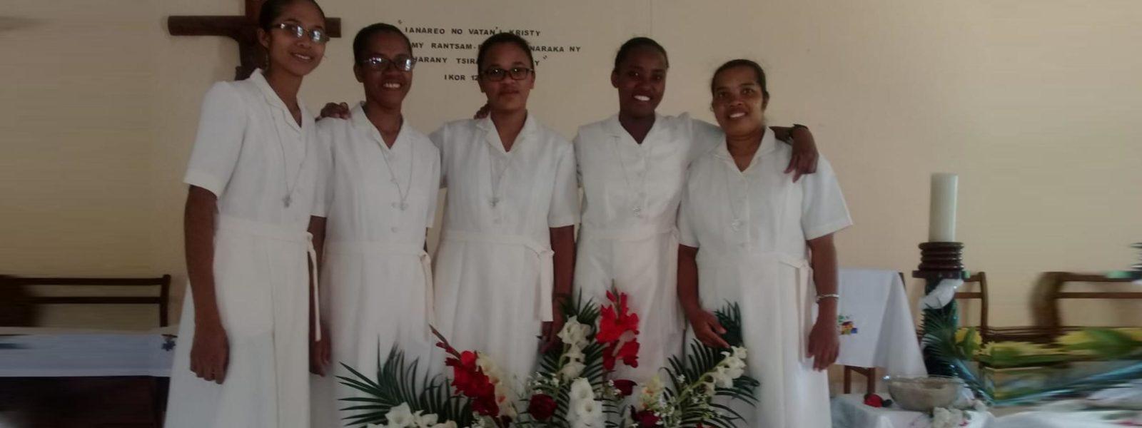 MADAGASCAR : engagements temporaires de 5 soeurs