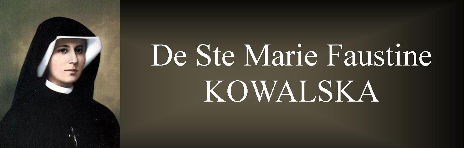 De Ste Marie Faustine Kawalska,