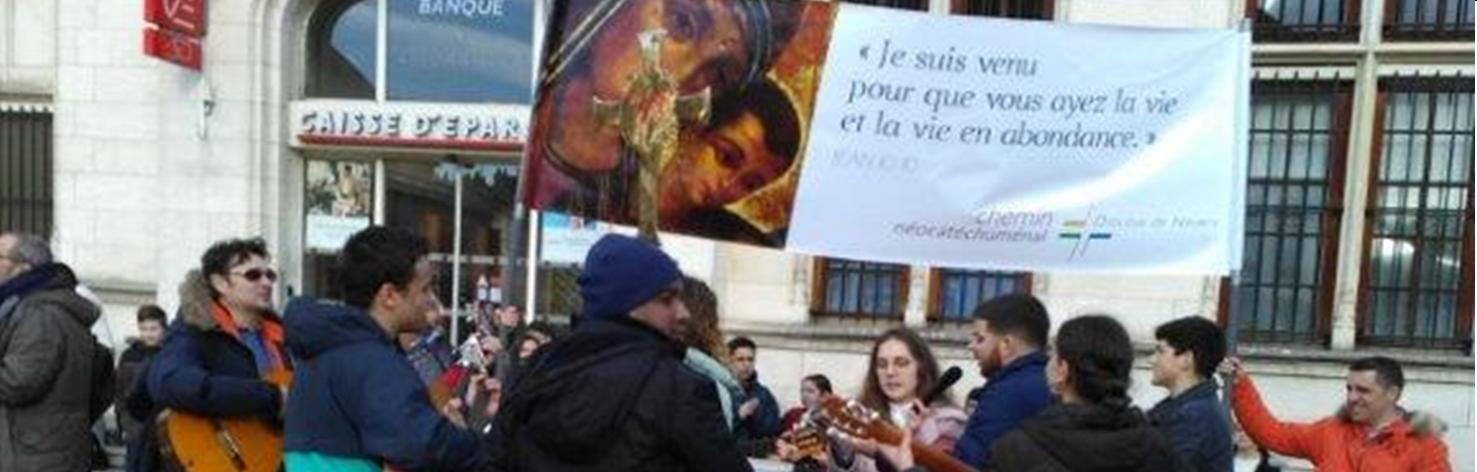 Evangélisation de rue