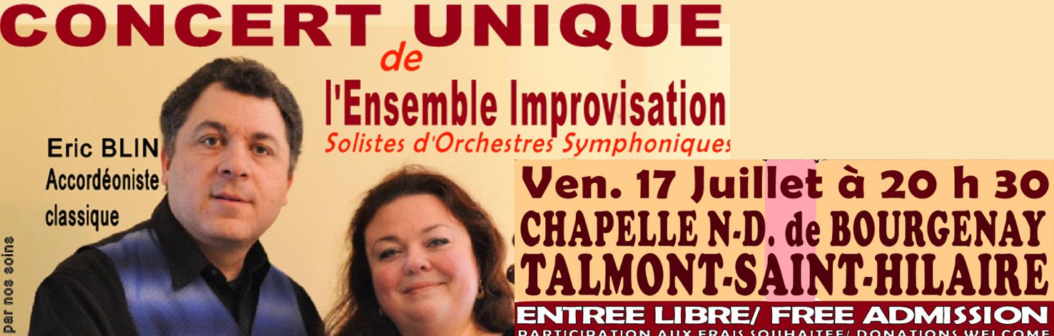 Concert de l'ensemble Improvisation à Bourgenay