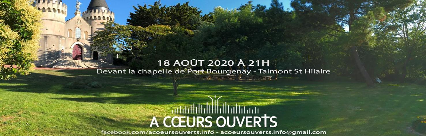 Concert «A coeurs ouverts le 18 août à Bourgenay !