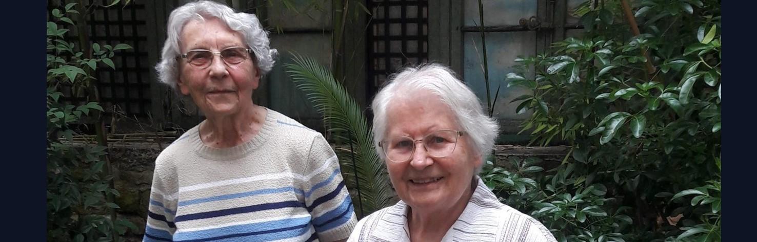 Au-revoir de sœur Solange et sœur Andrée à Paris (France)